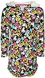 Emoji Clothes for Girls Rene Rofe Girls Fleece Nightgown with Sherpa Hood, Multi Emoji, Size 7/8'
