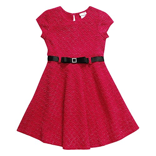 Buy belted jacquard dress - 2