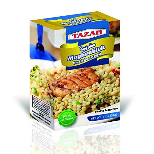 Tazah Moghrabieh (Pearl Couscous) 1Lb / 454 Gr by Tazah