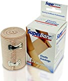 SuperBand® Elastic Bandage With Fastening Clips (3 Inches by 5 Yards) - 4 Pack