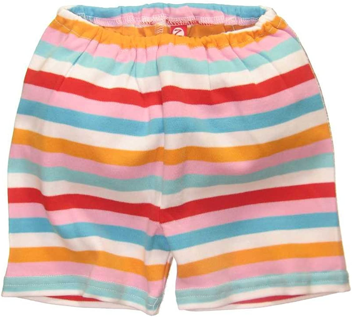 Infant Girls Bold Stripe Pink Shorts by Zutano Baby