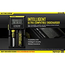 NEW 2016 NITECORE D2 Battery Charger Digicharger For 18650 14500 18350 AA AAA