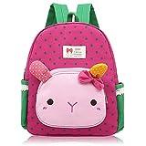 Little-Sweet Cute Rabbit Toddler Backpacks Kids School Bags Children Preschool Lunch Bags (Rose Red) For Sale