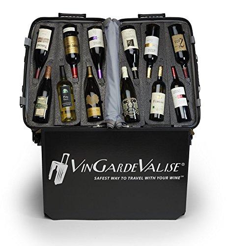 VinGardeValise Wine Travel Suitcase (12 Bottle) Newest Model (One Size, Silver) by Vin Garde Valise (Image #7)'