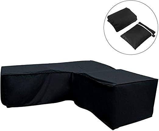 Bestlle - Funda 210D para muebles de exterior, en forma de L ...