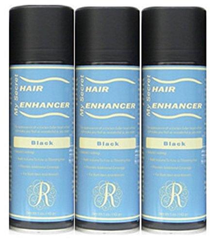 12 My Secret Hair Enhancer Spray 5 oz. with Free Travel Shampoo (Black) by My Secret