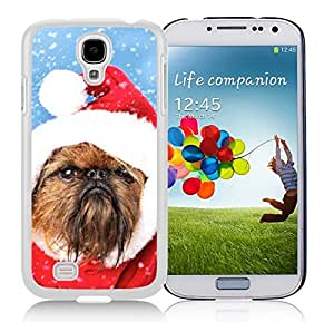 Personalization Christmas Brown Fur Lovely Dog Durability White TPU Case For Samsung Galaxy S4,Samsung I9500