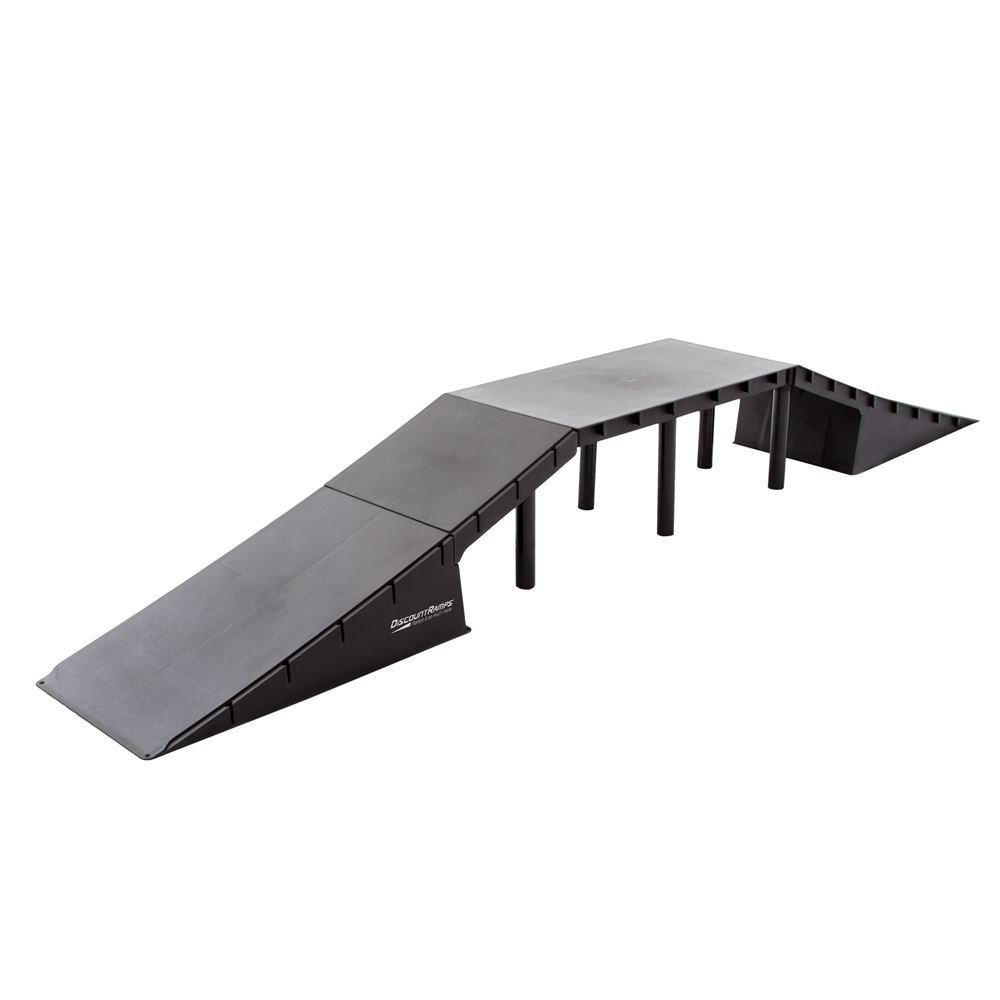 Discount Ramps SK-79900 Black 16' High 5-Piece Double Launch Skateboard Ramp Kit Discount Ramps SK-79900 Black 16 High 5-Piece Double Launch Skateboard Ramp Kit