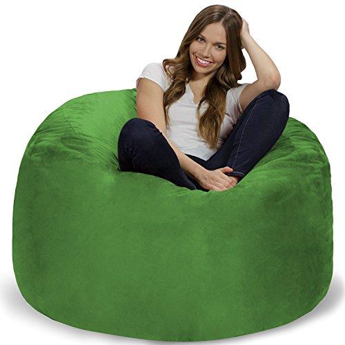 Giants Sofa - Chill Sack Bean Bag Chair: Giant 4' Memory Foam Furniture Bean Bag - Big Sofa with Soft Micro Fiber Cover - Lime