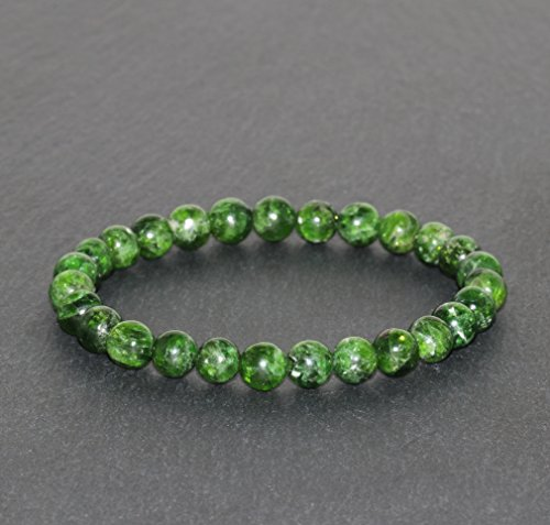 - Chrome Diopside Bracelet 6.5mm Green Chrome Diopside Beaded Natural Gemstone Bracelet Handmade Unisex Bracelet Peace & Tranquility Bracelet