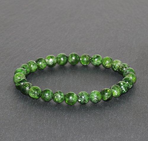 Chrome Diopside Bracelet 6.5mm Green Chrome Diopside Beaded Natural Gemstone Bracelet Handmade Unisex Bracelet Peace & Tranquility Bracelet