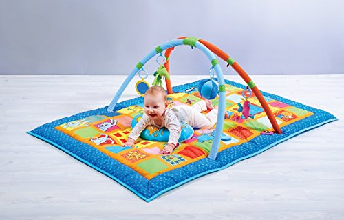 51ds11oggOL - Taf Toys Curiosity Activity Gym Tummy Time Play Mat | Neck & Shoulder Comfort, Removable Arches, Touch Musical Ball, Squeaker, Crinkles, Teethers, Butterfly, Easier Child Development & Parenting