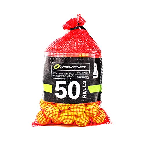 Yellow Premium Brand Golf Balls 50 Pack (Best Golf Ball For Average Swing Speed)