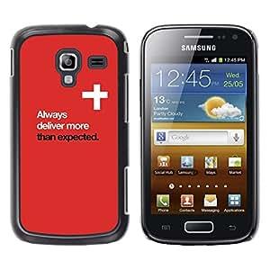 Cruz Roja Inspiring cartel Dios Blanca- Metal de aluminio y de plástico duro Caja del teléfono - Negro - Samsung Galaxy Ace 2
