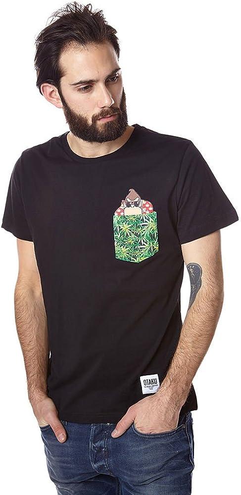 Camiseta de manga corta Pkt Weed Negro Otaku XS Hombre: Amazon.es: Ropa y accesorios