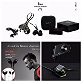 Wireless Headphones with Mic by DJMATE® - Best Bluetooth Sports Earphones with Noise Cancellation - Luxury Magnetic Smart Sweatproof Earbuds with Zipper Bag (Black)