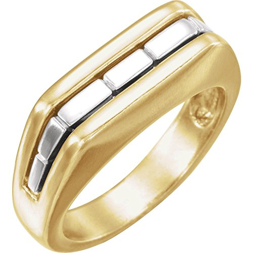 (Beautiful White and yellow gold 14K Two Tone Gents Mounting)