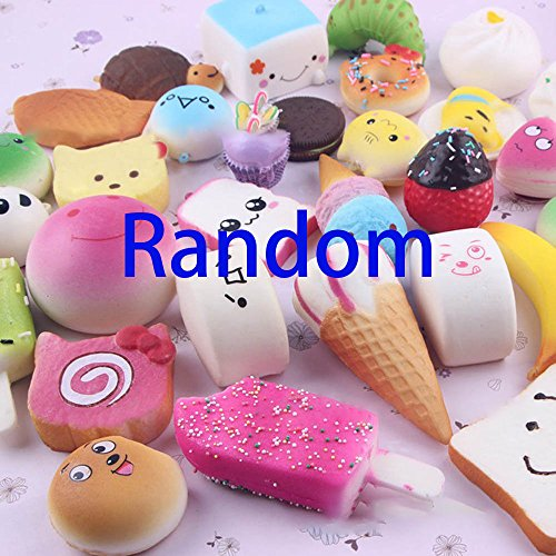 Price comparison product image 10 Pcs Random Cute Food Squishy Toys, Kawaii Slow Rising Squeeze Squishy Toys for Kids ,Stress Relief Gifts,Decoration