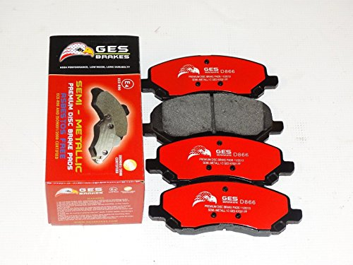 Dodge Caliber Mitsubishi Galant Chrysler Premium Quality Front brake Pads D866 by GES PARTS