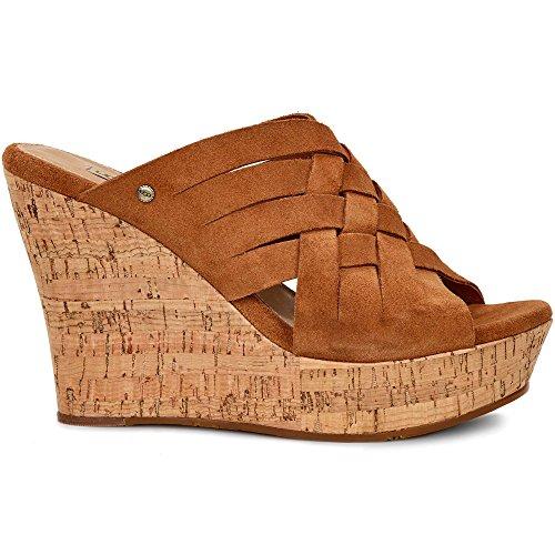 UGG Women's Marta Wedge Sandal, Chestnut - Ugg Suede Wedges Shopping Results