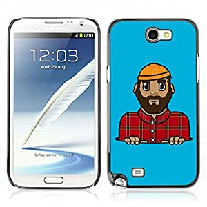 A-type Colorful Printed Hard Protective Back Case Cover Shell Skin for Samsung Galaxy Note 2 II / N7100 ( Lumberjack Illustration )
