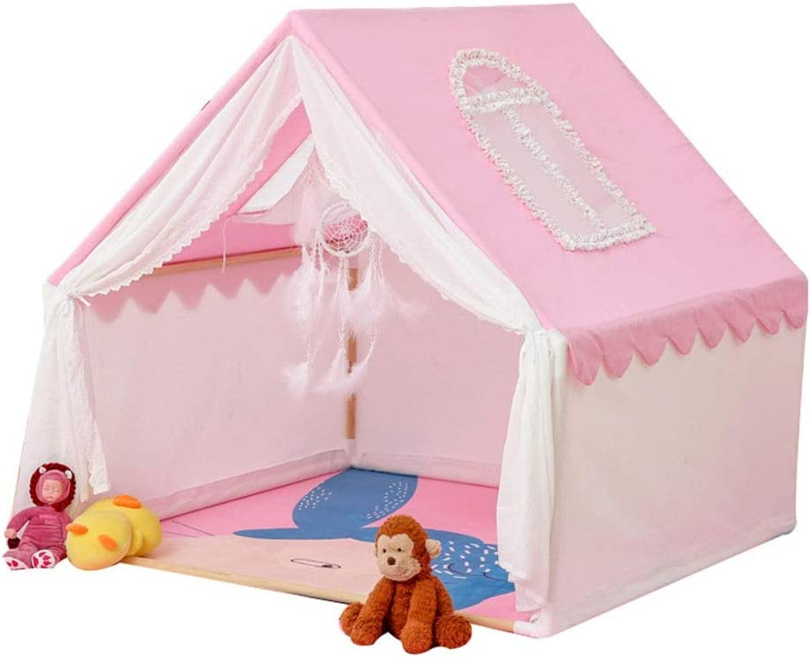 キャリングケース付きの屋内&屋外のために夢のような屋内屋外のポータブルプレイテント玩具、グレートギフトアイデア 子供の想像力を養う (Color : Pink, Size : 110x110x115cm)