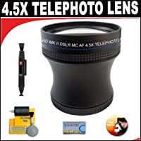 4.5X Proffessional HD Mark II Special Edition Telephoto Lens For The Canon EOS 5D Mark III, 60Da, 1D C, 6D, T4i, 650D Digital SLR Camera Which Has Any Of These (24-105mm, 24-70mm, 16-35mm, 17-40mm, 20-35mm, 10-22mm, 17-55mm, 100-400mm, 70-200mm f/2.8L) Canon Lenses