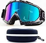 Women Unisex Snowboarding Skiing Motorcross Offroad All Purpose Newest Sports Goggles All Weather UV100% Baby Pink Dual Lenses Anti-Fog