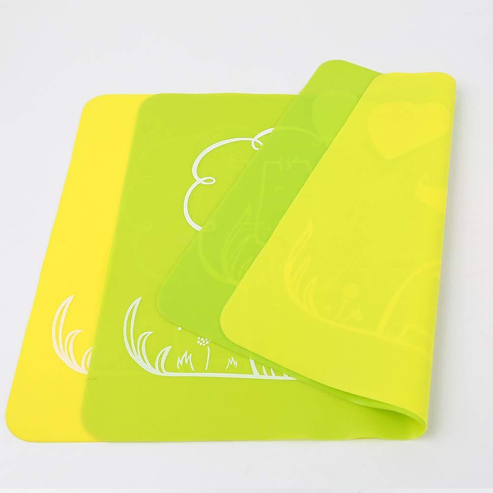 flessibili colore casuale Bestonzon antiscivolo 40 x 30 cm 2 tovagliette in silicone per bambini con motivo leone