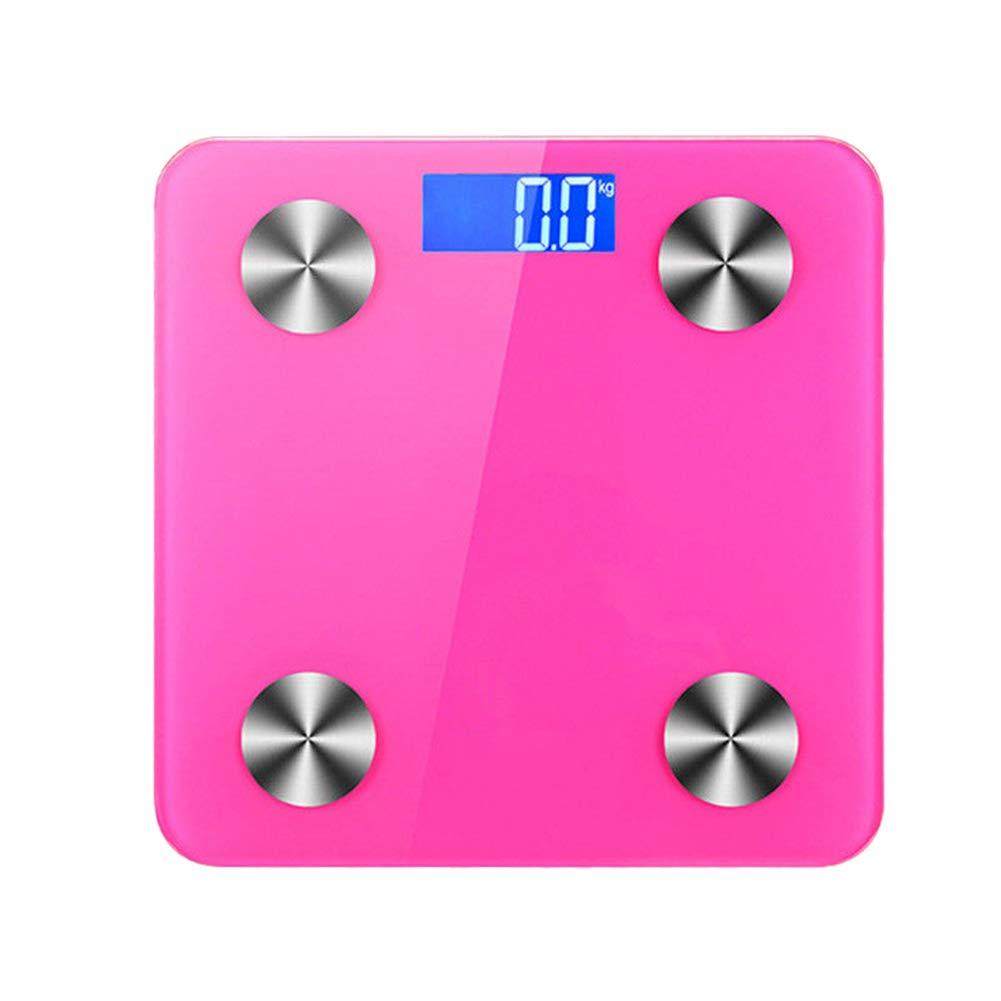 Shentesel Body Fat Scale Bluetooth Digital Bathroom Electronic Fitness Analyzer 180kg - Red