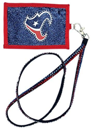 Houston Costume Jewelry (NFL Houston Texans Beaded Lanyard with Nylon Wallet)