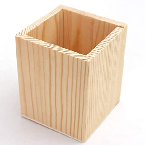 YanRong - Estuche para bolígrafos de escritorio (madera maciza ...