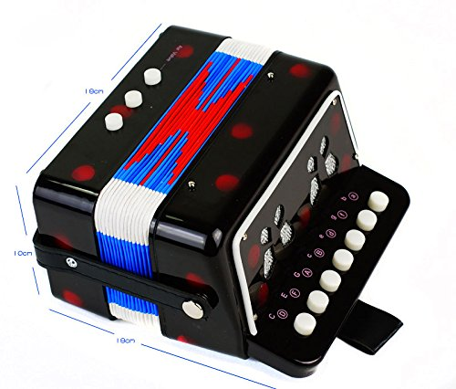 SKY Accordion Black Color 7 Button 2 Bass Kid Music Instrument High Quality Easy to Play