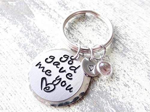 God gave me you keychain, sisters forever, best friends, sister gift, forever my sister, sister keychain, mother daughter gift, god jewelry