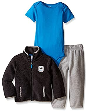 Carters Baby Clothing Outfit Boys 3-Piece Sherpa Cardigan Set Grey