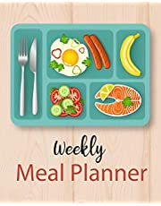 Weekly Meal Planner: Food Planner & Grocery list Menu Food Planners Prep Book Eat Records Journal Diary Notebook Log Book Size 8x10 Inches 104 Pages