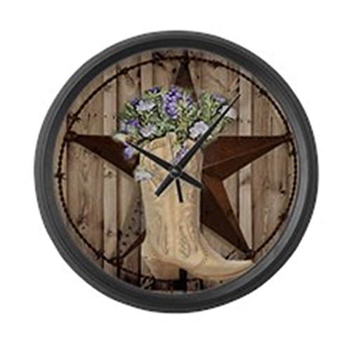 CafePress - Cowboy Boots Western Country Barn Wood Large Wall - Large 17