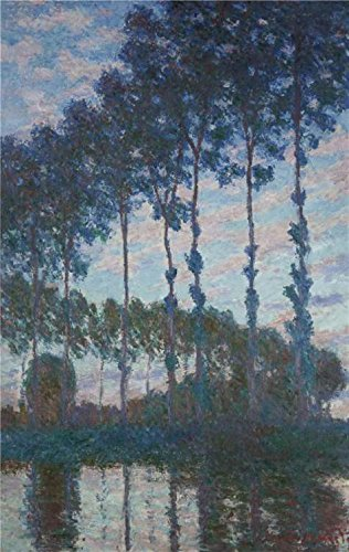 The High Quality Polyster Canvas Of Oil Painting 'Poplars On The Epte, 1891 By Claude Monet' ,size: 18x28 Inch / 46x72 Cm ,this Vivid Art Decorative Prints On Canvas Is Fit For Powder Room Gallery Art And Home Artwork And