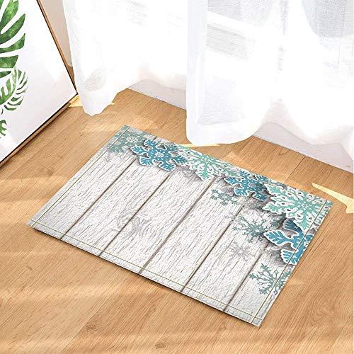 saishun Snowboard Wood Bathroom Carpet Anti-Slip Door mat Floor Entrance Channel Indoor Front Door mat Children Bathroom mat 40X60CM Bathroom Accessories ()