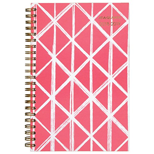 Small Desk Planner - AT-A-GLANCE 2018-2019 Academic Year Weekly & Monthly Planner, Small, 4-7/8 x 8, Sloane Diamond (1114D-200A-19)