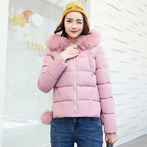 Coat Slim Overcoat Winter Pink Parka Jacket Down Lookatool Women Thicker Casual nxCTwIq0FP