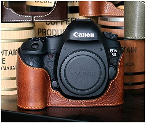 Ciesta hecho a mano Edition Funda de piel mitad para Canon 5D3 5d ...