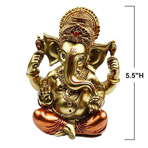 Hindu God Lord Ganesha Idol Statue - Indian Elephant Buddha Ganesha Sculpture -India Home Pooja Diwali Decoration