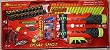 : Air Zone Dual Shot Clip Foam Dart Blaster Motorized Rapid Fire Gun