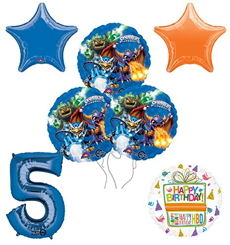 Skylanders 5th Birthday Party Supplies and Balloon Decoration Bouquet Kit -