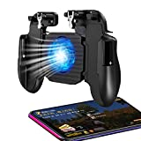 PUBG Mobile Game Controller for Phone iOS,Android Gaming Controller Cooling Fan,Phone Gaming Trigger for Pubg Fortnite/Rules of Survival Gaming Joysticks for 4.7-6.5