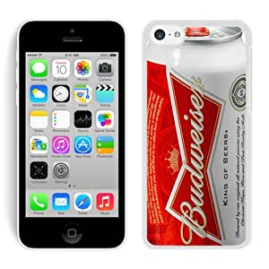 Beautiful Designed Cover Case For iPhone 5C With Budweiser White Phone Case
