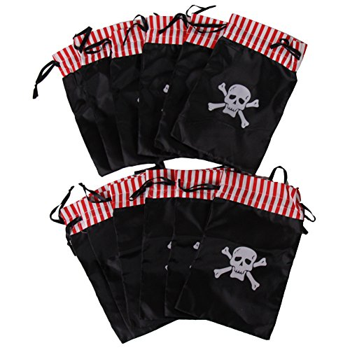 [Dozen Pirate Skull Theme Party Favor Bags] (Pirate Theme Party Costumes)