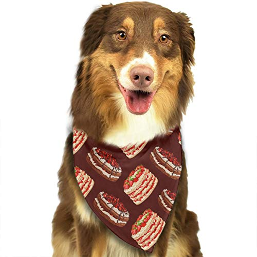 ANYWN Pet Dog Bandanas Pancake Triangle Bibs Scarfs Accessories for Puppies Cats Pets Animals Large -