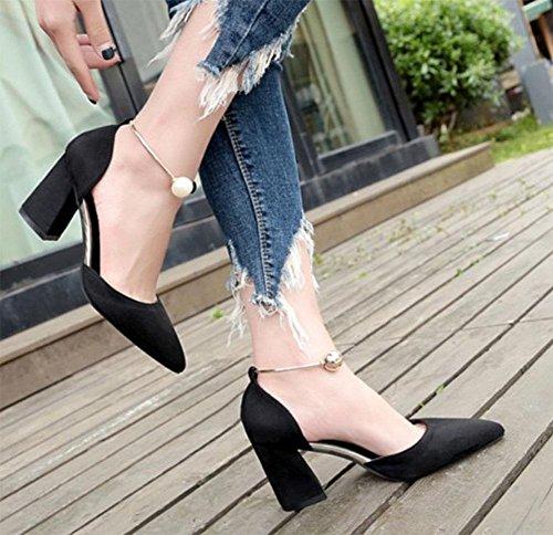Para Sólidas Meili Alto De Mujer Tacón Negro Sandalias X8XHxwan